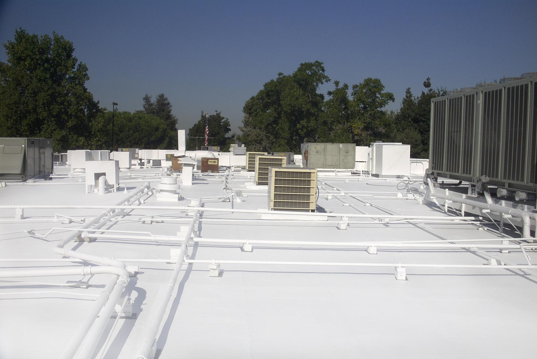 Elastomeric Roof Coatings Waterproof Around Roof Equipment With No Hassle