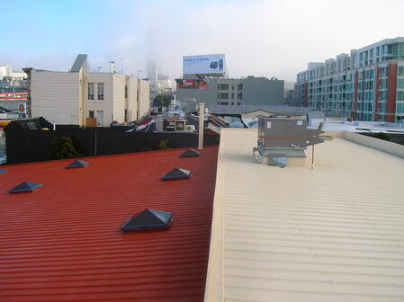 metal roof coating project