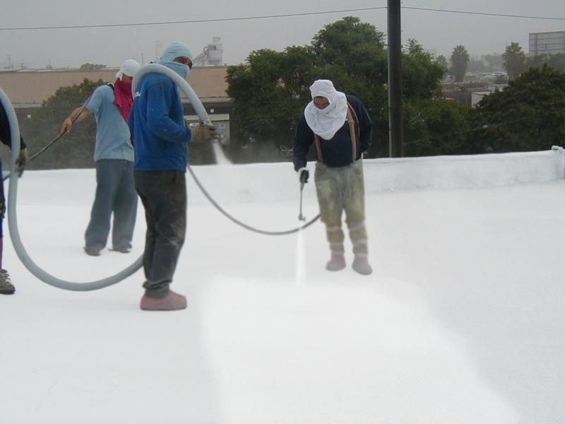 Spray Polyurethane Foam (SPF) Roofing Requires Spray Applied Coating To  Protect The Foam From Deterioration Caused By The Sunu0027s Harmful UV Rays  Water .
