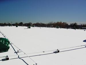 Fast setting roof coatings