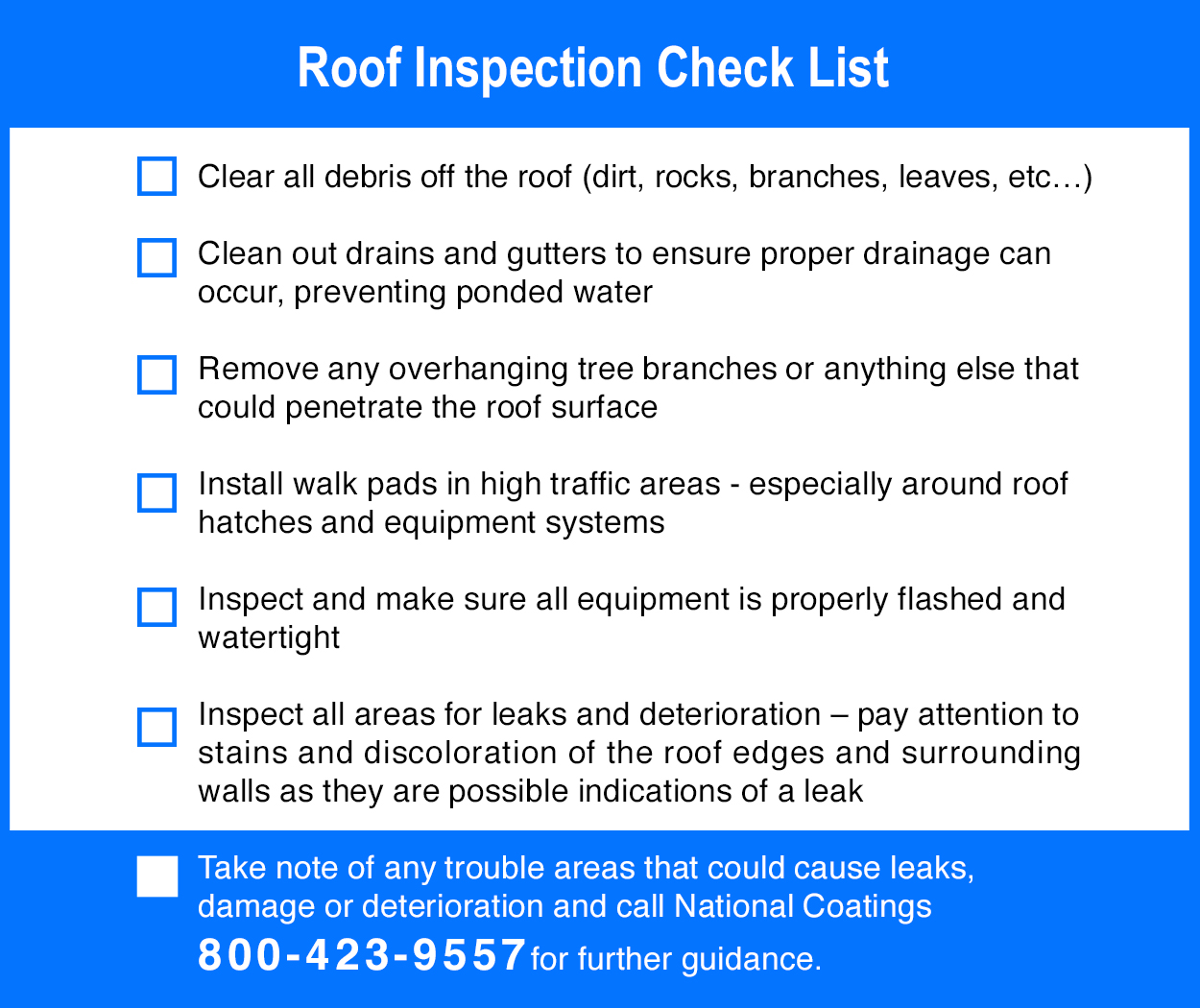 2021 Roof Inspection Checklist
