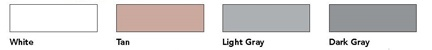 Standard Silicone Roof Coating Color Swatches