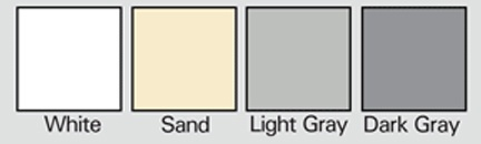 Standard roof coating color swatches